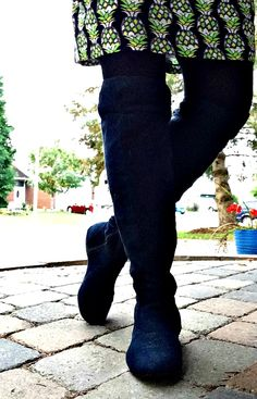 Love is Like a Pineapple and 10 things I never thought Blogging Would Do Blue Suede Boots, Over the knee boots