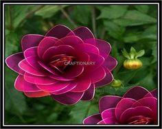FREE PHOTO TUTORIAL ~ How to make nylon flower Dahlia