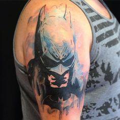 50 Best Batman Tattoo Designs and Ideas - Beste Tattoo Ideen Batman Logo Tattoo, Marvel Tattoos, Batman Symbol Tattoos, Comic Tattoo, Fan Tattoo, Hero Tattoo, Tattoo Bein, Book Tattoo, Get A Tattoo