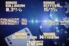 Hanya di sahabat QQ  !!! PLAY FOR WIN !!! !!! JOIN NOW !!! DUNIASAKONG*NET Pokerface, Poker Online, Online Games, Asia, Website