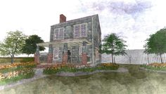 This is a 3d model I completed of an old 1900's colonial style home. It is a smaller home, on the 1200 sq ft side, but has a great layout. Modeled in Autocad and rendered in Lumion