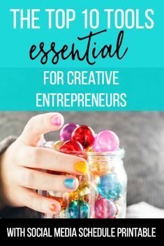 The Top 10 Tools Essential for Creative Entrepreneurs (free social media plan included). Getting started in the online business world can be tough for bloggers and biz owners!  Each of our must-have recommended tools is either free or less than $10/month. Check out the list and grab a copy of our exact social media plan too!