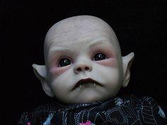 OOAK Horror Goth Art Doll Halloween Vampire Baby | eBay Scary Baby Dolls, Creepy Dolls, Halloween Vampire, Halloween Doll, Halloween 2016, Halloween Crafts, Creepy Kids, Creepy Cute, Reborn Dolls