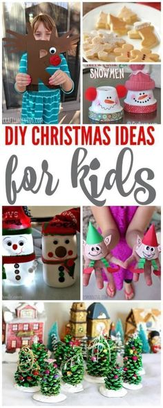 DIY Christmas Ideas for Kids! Super cute handmade holiday crafts and
