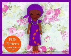 The Color Purple Doll. Felt Doll. PDF Pattern. by FeltDollManiac