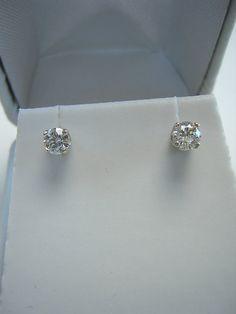 14kt Gold Diamond Earrings .50cttw White by RLGemstoneElegance, $799.00