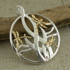 Sterling Silver & Gold Dragonfly Pendant with Dragonfly Necklace Gift box Keith Jack Dragonfly Necklace, Dragonfly Pendant, Link Bracelets, Necklace Lengths, Jewelry Gifts, Jewelry Design, Jewelry Making, Dragonflies, Sterling Silver