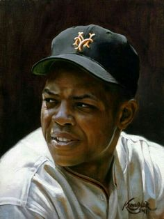 1955 painting of Willie Mays