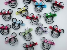 Mickey and Minnie Mouse quilling