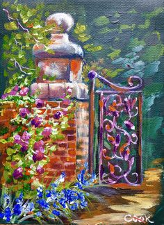 ROSE LANE was the featured Monday night lesson on YouTube for Oct 17. We covered how to simplify a photo, paint bricks and use fine tiny nail brushes for fine detail. This is part of a larger painting planed for our weekly Thursday release Oct 20th.