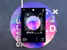 SPACED. | Poster Flyer Design, Layout Design, Corporate Design, Brochure Design, Design Design, Vaporwave, Business Cards Layout, Simple Poster, Drag