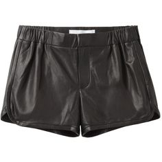 Thakoon Addition Makos Leather Shorts (74.625 HUF) ❤ liked on Polyvore