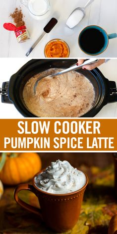French Delicacies Essentials - Some Uncomplicated Strategies For Newbies Add A Dash Of Pumpkin Spice To Your Holidays With This Homemade Pumpkin Spice Latte Recipe. Milk, Coffee And Canned Pumpkin Combine To Form A Creamy Latte Base. This Easy Slow Cooker Homemade Pumpkin Spice Latte, Pumpkin Spiced Latte Recipe, Pumpkin Pie Spice, Canned Pumpkin Recipes, Pumpkin Tea, Pumpkin Drinks, Pumpkin Cakes, Fall Recipes, Holiday Recipes