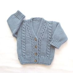 Infant cardigan  6 to 12 months  Baby knit by LurayKnitwear