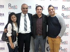 Con Edmundo del Águila y Percy Espino en Radio Cepea. (2015)