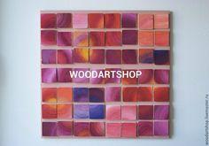 Купить Панно из дерева, оригинально раскрашенный для интерьера - панно, панно на стену, панно настенное