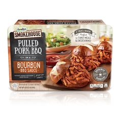 Hand-pulled pork, smoked for 8 hours with Tennessee Hickory Wood and smothered in Bourbon BBQ Sauce... Let's just say, it's a good thing this comes with two trays! Available in the freezer section @Krogerco. #FarmRichSmokehouse