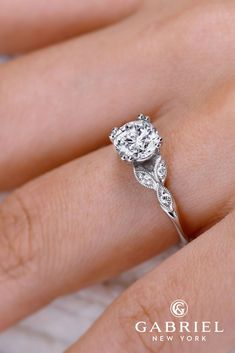 Gabriel And Co Engagement Rings Extraordinaire ❤ See more: http://www.weddingforward.com/gabriel-co-engagement-rings/ #weddings #ringly