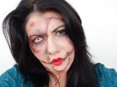 Tutoriel maquillage poupée zombi pour halloween - par maman prend soin d elle
