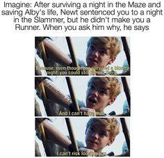 #TheMazeRunner>>>> i start crying and hug him and kiss him