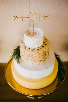 We love the idea of a literal cheese cake in place of (or in addition to!) a traditional wedding cake | Photo by Samuel Goh Photography