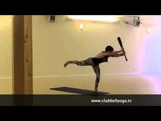 Clubbell Yoga with 10lb Club (Indian Clubs) - YouTube