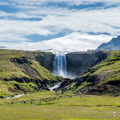 Svöðufoss waterfall, a non-mainstream waterfall in west Iceland, which has gained more popularity in recent years. It's located very close to the Snæfellsjökull glacier. I think it looks like a bit smaller version of Seljalandsfoss waterfall. Don't you agree?   #svodufoss #iceland
