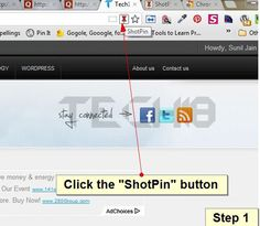 [How To] Send WebPage Screenshot To Pinterest Instantly