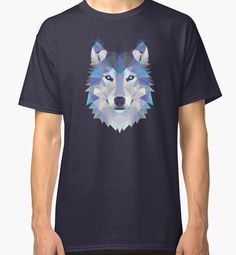 Game Of Thrones Polygonal Dire Wolf | RedBubble Navy Classic TShirt | All Sizes Available for Men @redbubble @RedHillStudios