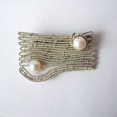 Kôra Pearl Jewelry, Brooches, Contemporary, Pearls, Handmade, Jewelery, Hand Made, Brooch, Beaded Jewelry