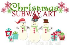 It's Written on the Wall: {44 different Freebies} Christmas Subway Art For You Home
