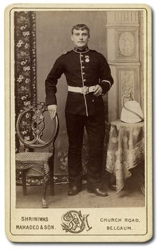 British; 2nd Battalion Prince Albert's Somerset Light Infantry. A private photographed at Belgaum c 1887. He wears an Indian General Service Medal with one clasp, which would read Rangoon. The battalion had seen action in Burma in 1884.