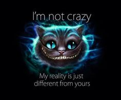 I'M NOT CRAZY ..... MY REALITY IS JUST DIFFERENT FROM YOURS