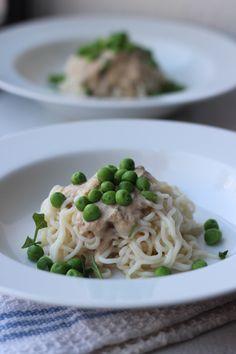 Tofu Shirataki Noodle Alfredo Experiment (vegan)