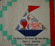 Pat Sloan Sweet Life Sew Along block 5 - not a free block but in a book