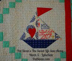 Pat Sloan Sweet Life Sew Along block 5 - not a free block but in a book