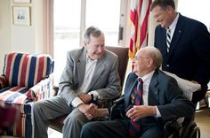 Blaine, 90, meets George Bush, Sr. in Houston, TX. #WishConnect