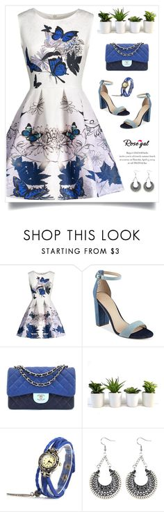 """""""Rosegal 28"""" by itsybitsy62 ❤ liked on Polyvore featuring GUESS and Chanel"""
