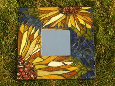 Sunflower Mosaic Mirror