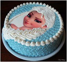 By Paty Shibuya - Bolos & Cakes - Frozen Cake - Bolo Elsa Frozen Birthday Party, Elsa Birthday Cake, Birthday Parties, Bolo Barbie, Barbie Cake, Bolo Frozen, Frozen Cake, Bolo Elsa, Pastel Frozen