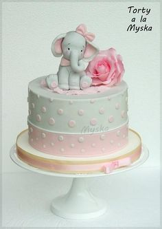 Ideas baby shower ideas elephant peanuts for 2019 Tortas Baby Shower Niña, Gateau Baby Shower, Baby Shower Cakes, Baby Shower Parties, Elephant Birthday Cakes, Elephant Baby Shower Cake, Elephant Cakes, Pink Elephant, Baby Girl Christening Cake