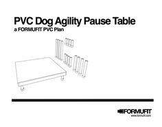 Dog Agility Pause Table PVC - Make Your Own   FORMUFIT