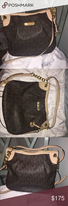Michael Kors Handbag Great condition, thick leather  *comes with dust bag* Michael Kors Collection Bags Shoulder Bags