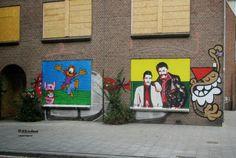 Wall paints, Muurschilderingen, Peintures Murales,Trompe-l'oeil, Graffiti, Murals, Street art.: Den Haag - Netherlands   Koot & Bie