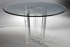 Victoria Acrylic Dining Table Bottom from Muniz Acrylic Furniture in Miami, FL. Glass Top Dining Table, Counter Height Dining Table, Oval Table, Pedestal Dining Table, Solid Wood Dining Table, Extendable Dining Table, Dining Table In Kitchen, Round Dining, Table And Chairs