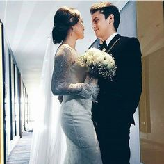 Till I Met You, James Reid, Nadine Lustre, Jadine, Just Friends, Girl Photography, Beautiful Pictures, Photo And Video, Wedding Dresses