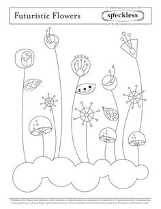 Embroidery Pattern- Futuristic Flowers