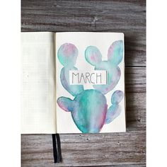 "229 Likes, 20 Comments - JournalBuddy|Bullet Journalist (@journalbuddy) on Instagram: ""My march titel page is set up! I love the colors and i looooooove cacti  are you excited for a…"""