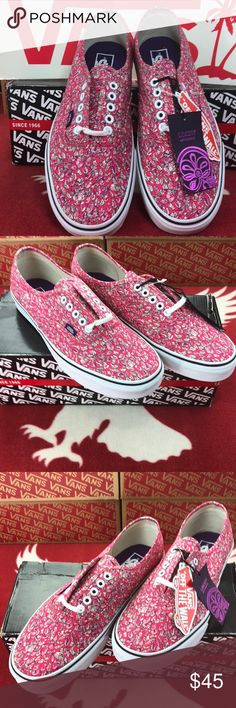Vans Authentic Liberty Collection The Authentic, Vans original and now iconic style, is a simple low top, lace-up with durable canvas upper, metal eyelets, Vans flag label and Vans original Waffle Outsole. Vans Shoes Sneakers