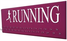 Women running silhouette  medals display race - Starting at $24.99 - Choose your color and size.